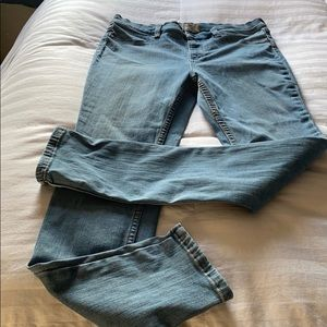 Free people- stretchy faded skinny jeans